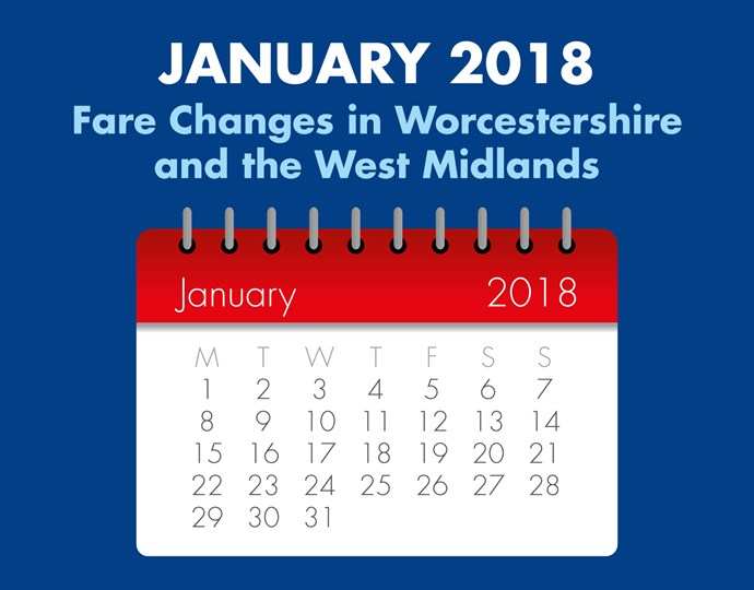 January Fare Changes Midlands