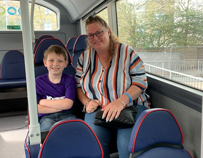 Ryley and Amanda Charity Bus Journey